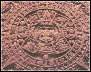 Piedra del Sol con el dios Tonatiuh y el pictograma delos días del Calendario Azteca