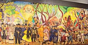 Mural de Diego Rivera en el Palacio Nacional