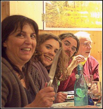 Amaparo, Lucía, Guillermo e Iñigo